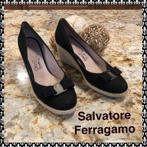 "Salvatore Ferragamo ""Like New"" Espadrille Wedge"